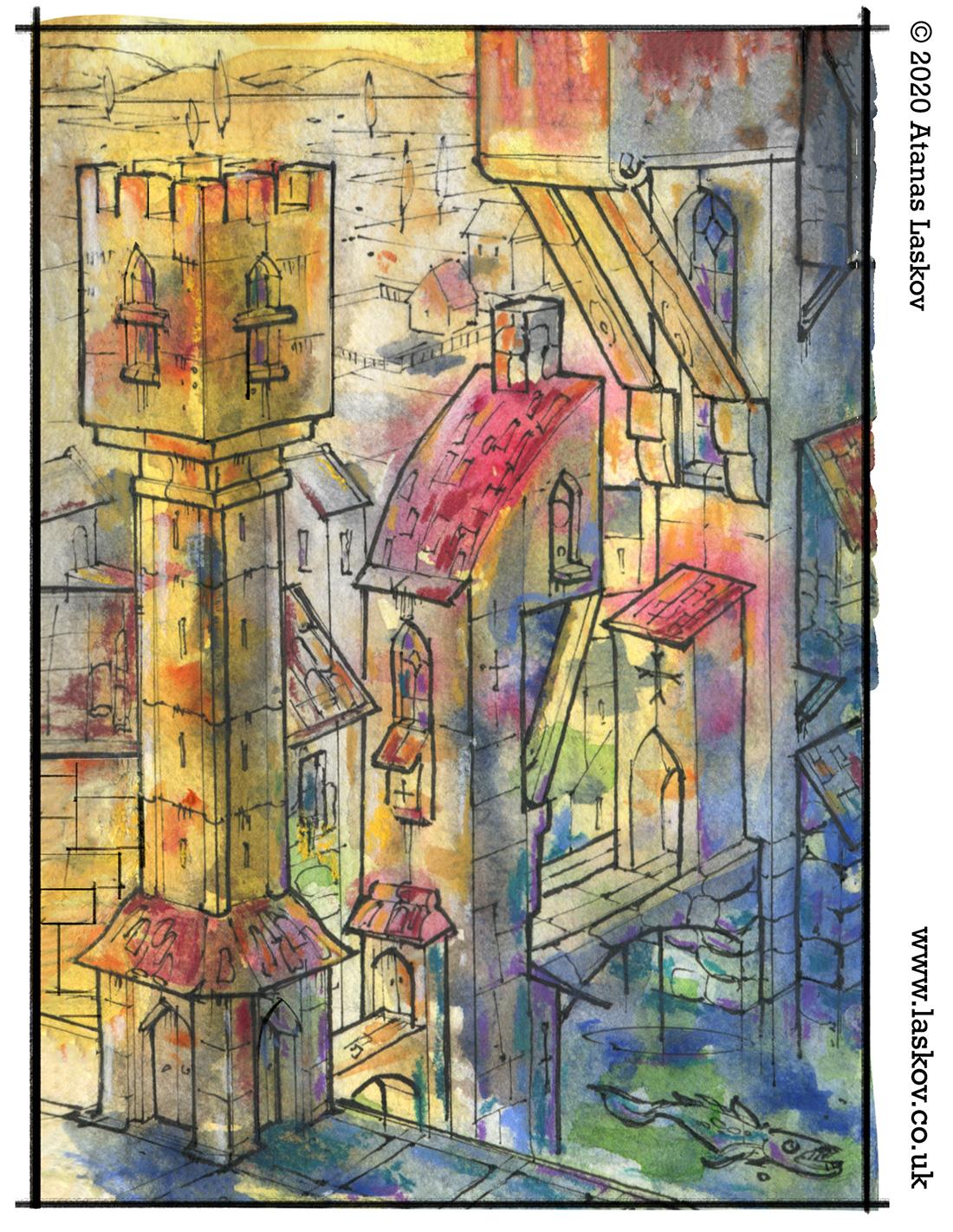 Renaissance City Watercolour